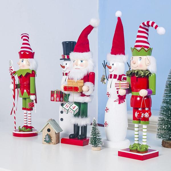 Juldekor i trä målad jultomte docka julbarn C