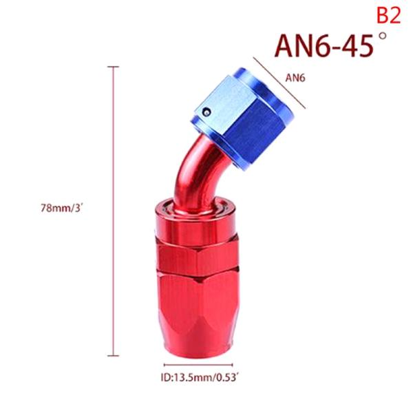 AN4 / 6/8/10/12 Slangändar Passande aluminium AN-beslag Adapter F B2
