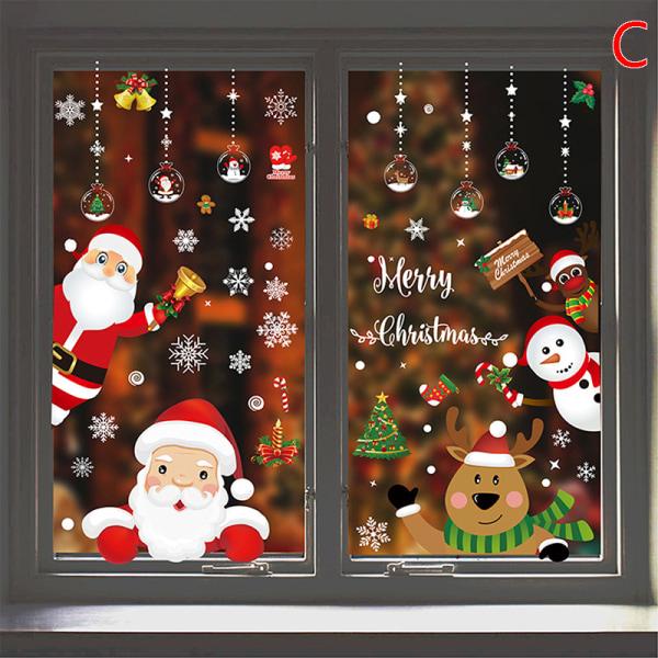 Klistermärke Julfönster God juldekoration för hem Ch C