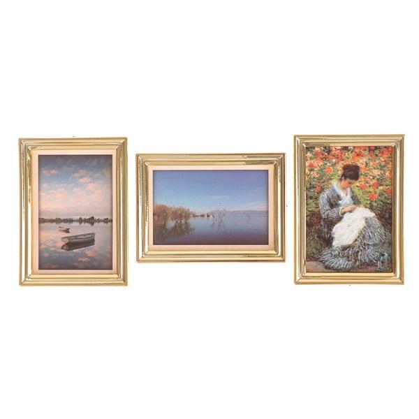 1:12 Skala Bilder Foton DollHouse Miniatyrväggmålningar M C