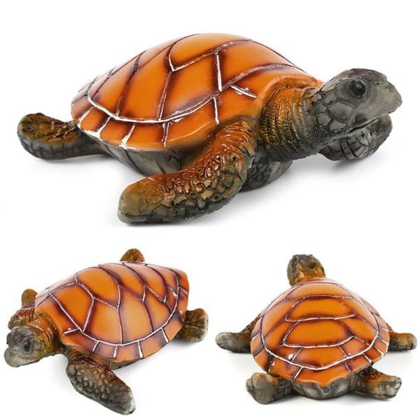 akvarium prydnad polyresin sköldpadda konstgjord fisk tank sköldpadda