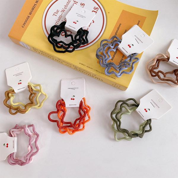 4PCS Color Basic Elastic Hair Bands Scrunchie Ring Gummiband F