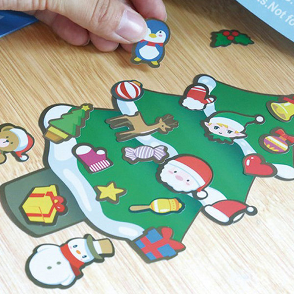 Barntecknad jul DIY klistermärke Santa Snowman e Expres I