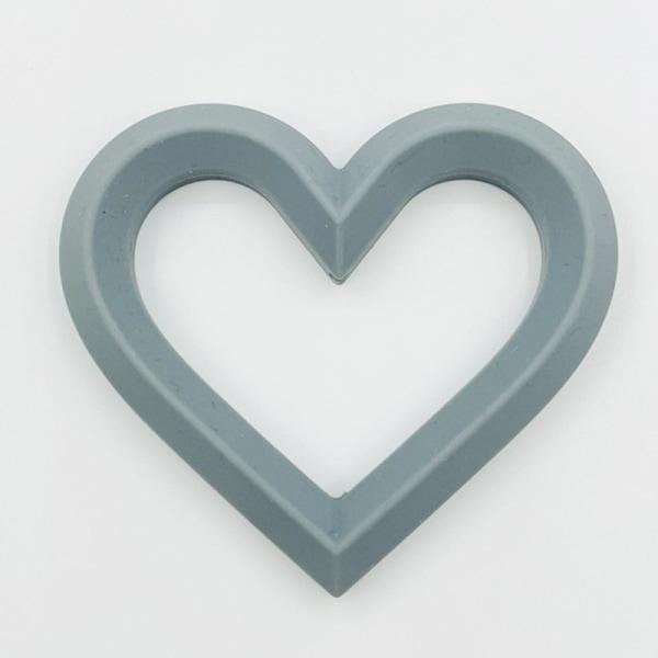 babyhjärta mjukt silikon är hjärtform molär smärtlindring t Dark gray