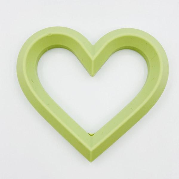 babyhjärta mjukt silikon är hjärtform molär smärtlindring t Green