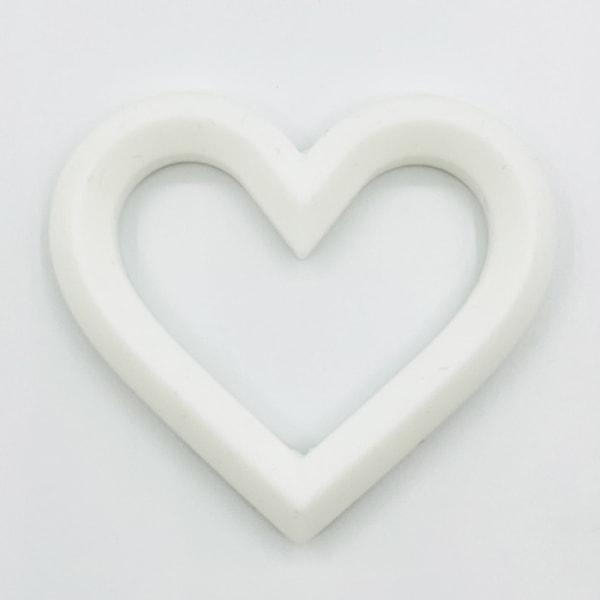 babyhjärta mjukt silikon är hjärtform molär smärtlindring t White