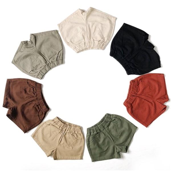 pojkar och flickors byxficka solida casual shorts