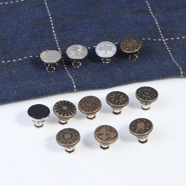 Knappstift för jeansbyxor mode diy tillbehör
