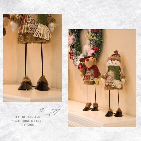 Stående julfigur Santa Claus Toy Doll Standing Ornamen Multicolor E