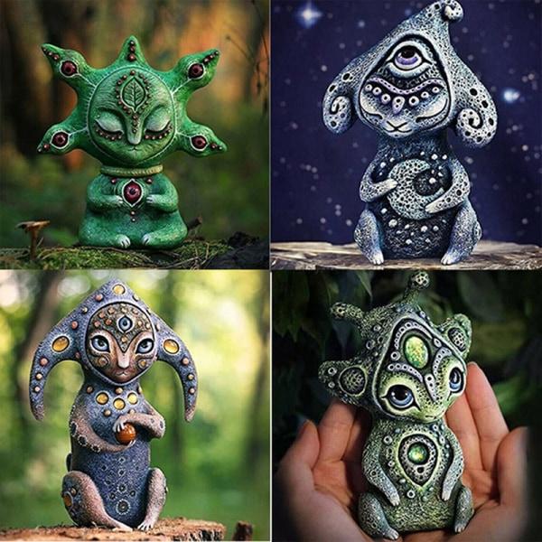 Handgjorda varelser från en fantasivärld - perfekt dekorationsres C