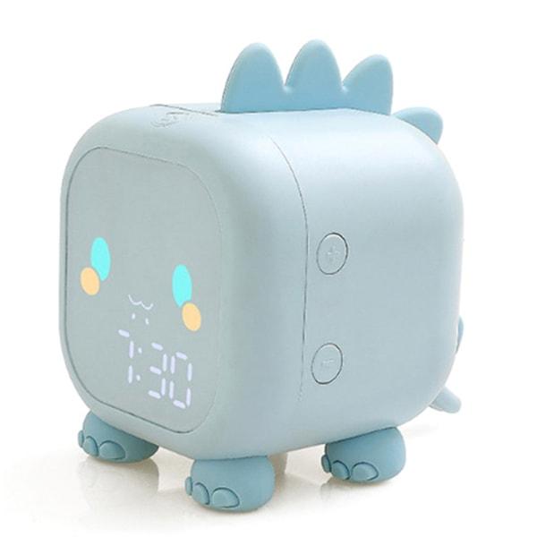 barn väckarklocka barns kreativa elektroniska klocka cartoo Blue