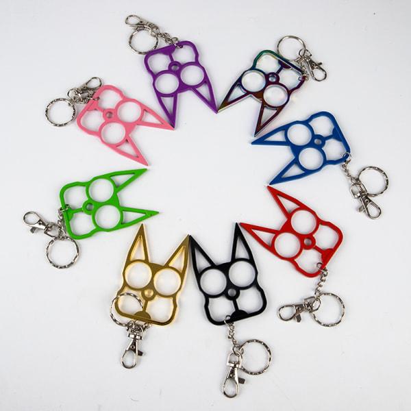 kreativ söt katt nyckelring legeringsbil för flickor trendig väska nyckelring Green