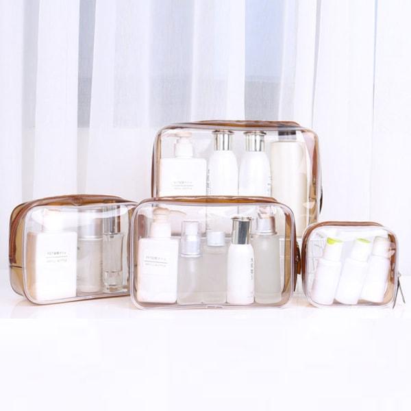 Transparenta PVC -väskor Travel Organizer Clear Makeup Bag Beauty C A1