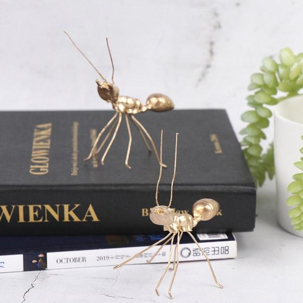 dekorativ metall hantverk koppar guld myra prydnad handgjord f ONE SIZE