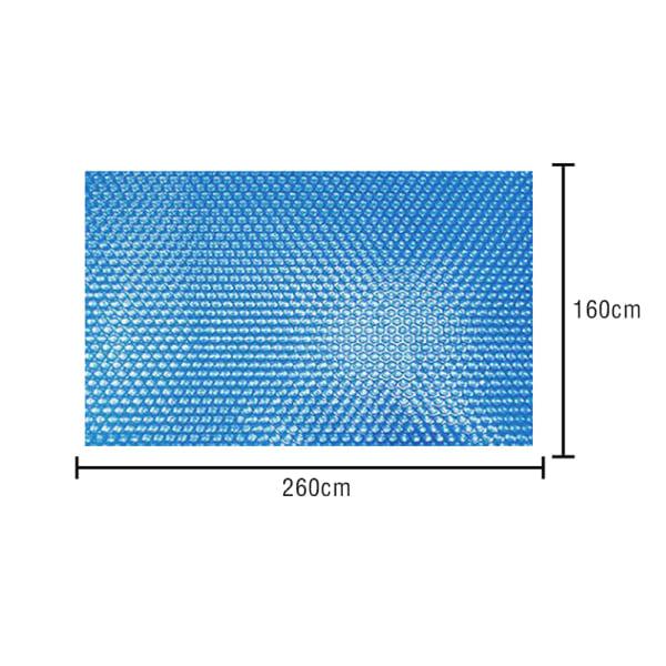 Dammtätt poolskydd Poolvärmebehållningsskydd utomhus Bubbl 260x160cm