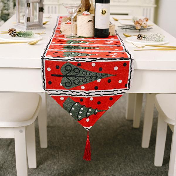Juldekoration Linnedryckt bordsdukunderlägg för hemmet B