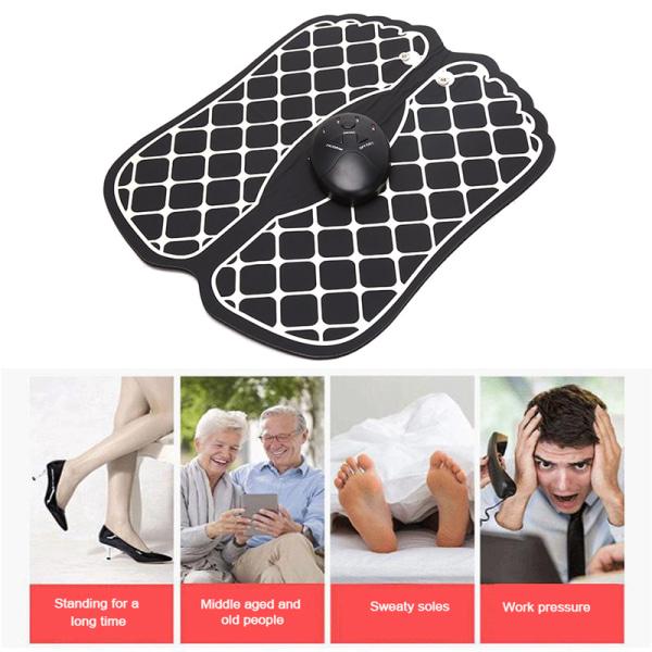 elektriska ems fot massager pad fötter muskelstimulator mat relie