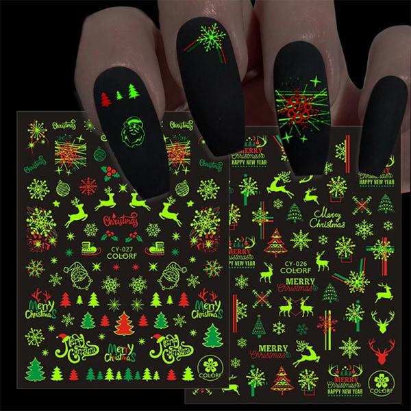 Spiklim Klistermärke Luminous Christmas Snowflake Elk Christmas Tr D