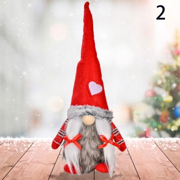 Härlig jul Vit kärlek Rudolph Standing Decoration Dwarf D 2
