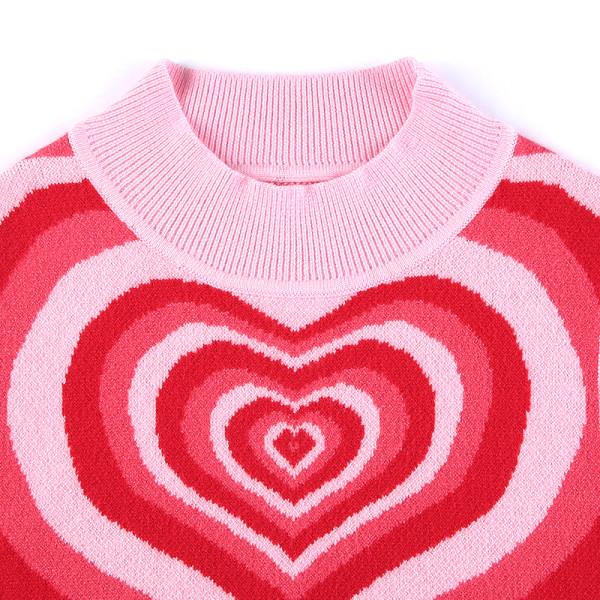 hjärtat ärmlös stickad crop top tröja väst sommar y2k 90s fa Brown S