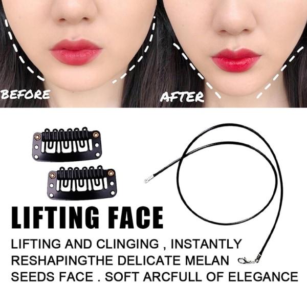 smink osynlig v-linje v ansiktsform klistermärken klipp bantning hals Beige
