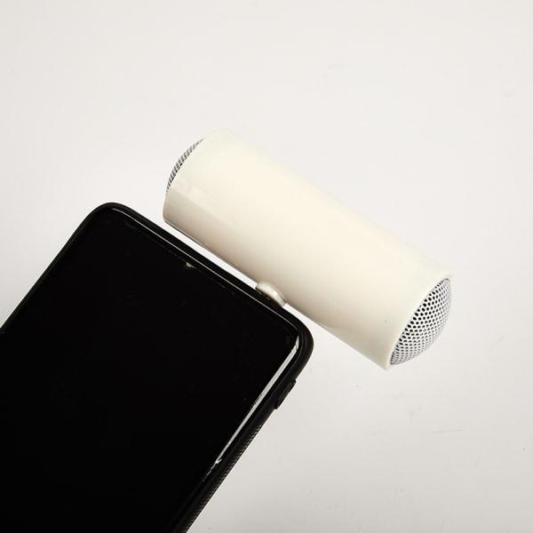 mini bärbar 3,5 mm stereohögtalare musikförstärkare för pho White