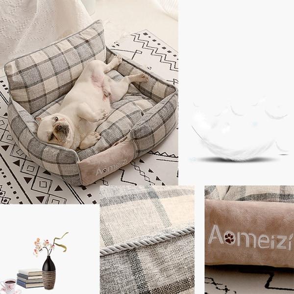 sällskapsdjur hund säng varm avtagbar för husdjur tvättbara hus soffa mattor ärm IS