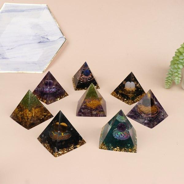 pyramid ametist peridot helande kristall energi pyramid skydda 7