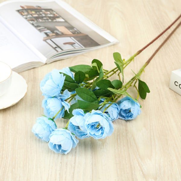 simulering blomma fyra dagg lotus simulering bukett bröllop prop Blue