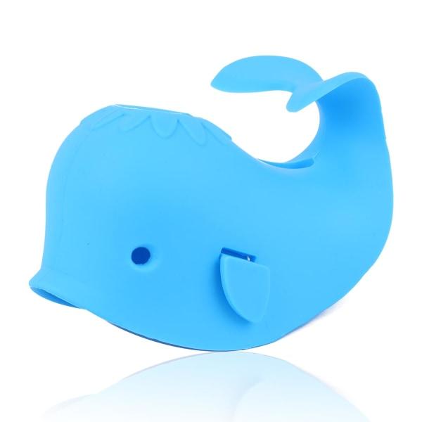 sushafen 1stycke badpipskydd söt blåval design badkar