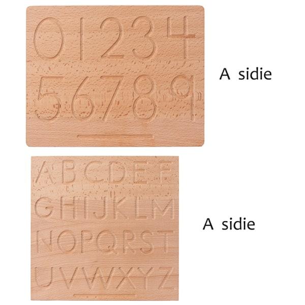 spårbräda trä dubbelsidiga bokstäver finmotorik utbilda Digital