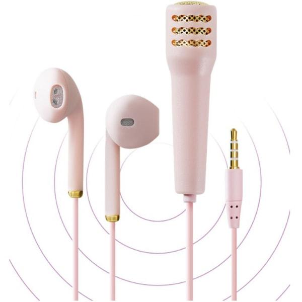 trådbundet headset karaoke hörlurar handhållen mikrofon bärbar stereo min