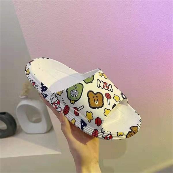 flip-flops för kvinnor runt huvudet bekväma sandaler med öppen tå B 43