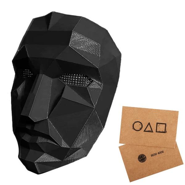 Squid Game Mask BOSS+10st inbjudningskort