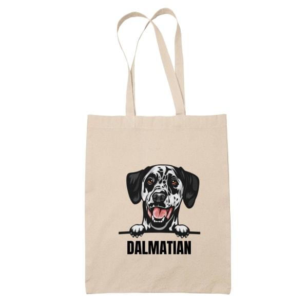 Dalmatian tygkasse hund shopping väska Tote bag Dalmatiner Natur one size