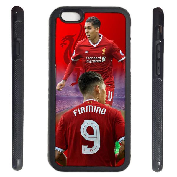 iPhone 7 skal med Firmino bild Liverpool gummiskal