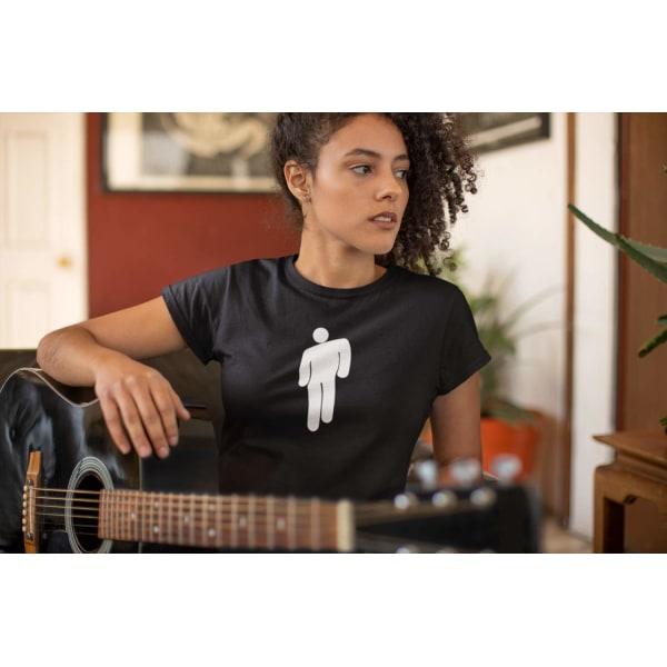 2st t-shirts med Billie Eilish tryck -  svart & vit T-shirt  M
