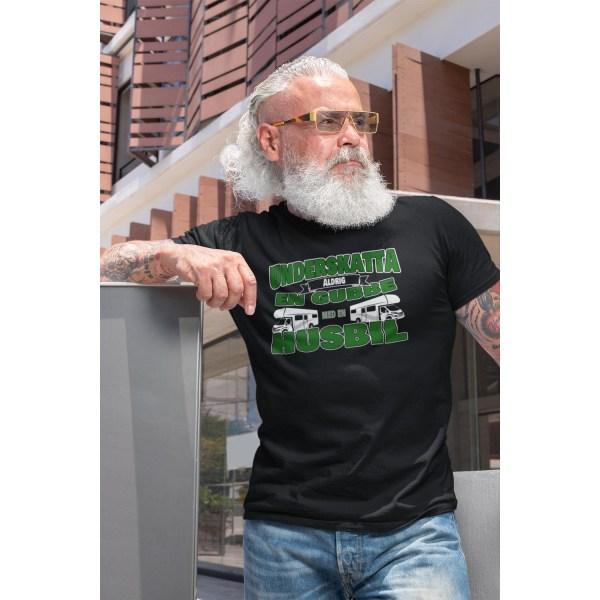 Husbil T-shirt Underskatta aldrig en gubbe med en husbil ! Black XXL