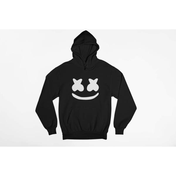DJ Marshmellow huvtröja i svart hoodie sweatshirt t-shirt 140cl 9-11år