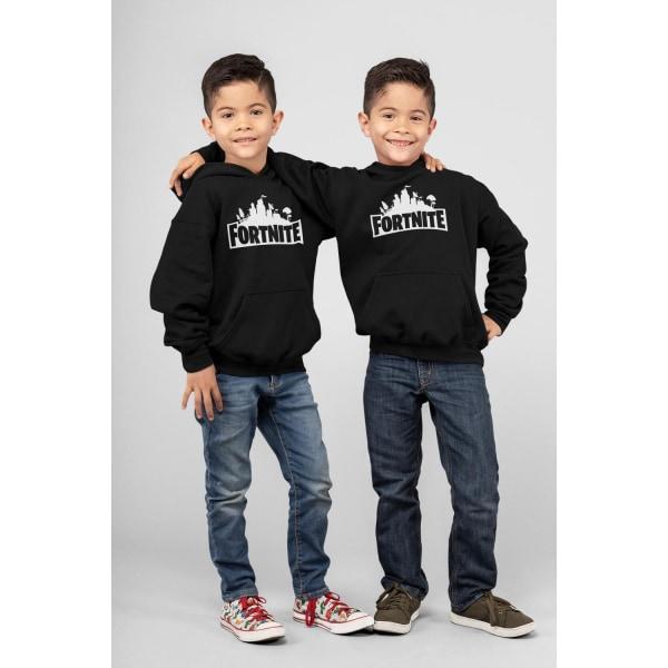 Fortnite barn Hoodie Sweatshirt t-shirt - Huvtröja 140cl 9-11år