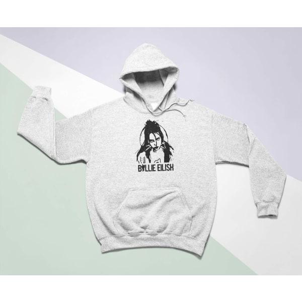 Billie Eilish barn Hoodie Cutout huvtröja t-shirt 152cl 12-13år
