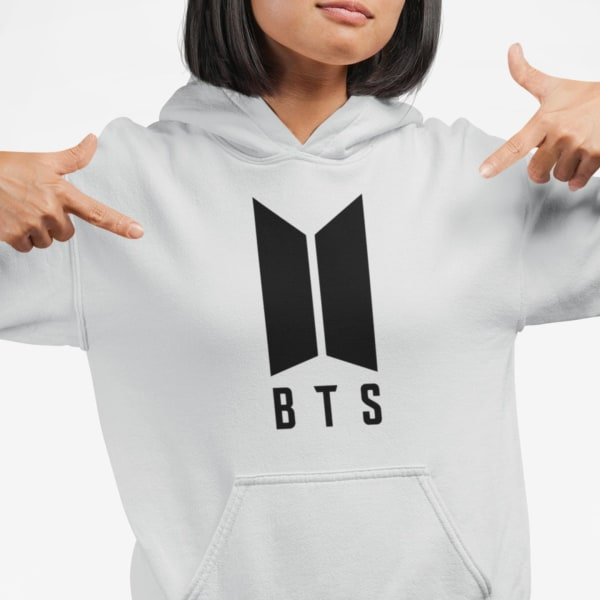 BTS stil grå huvtröja barn K-pop SUGA sweatshirt tröja t-shirt 164cl 14-16år