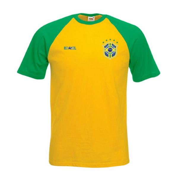 Brasilien stil fotboll t-shirt L