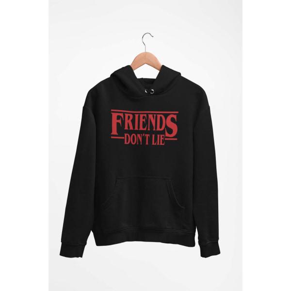 Friends don't lie huvtröja Stranger things hoodie t-shirt 164cl 14-16år