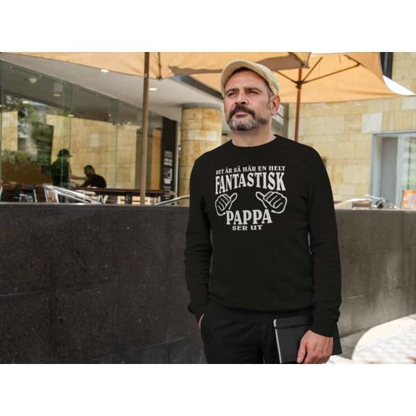 Pappa Sweatshirt - Hur en helt fantastisk Pappa ser ut tröja S