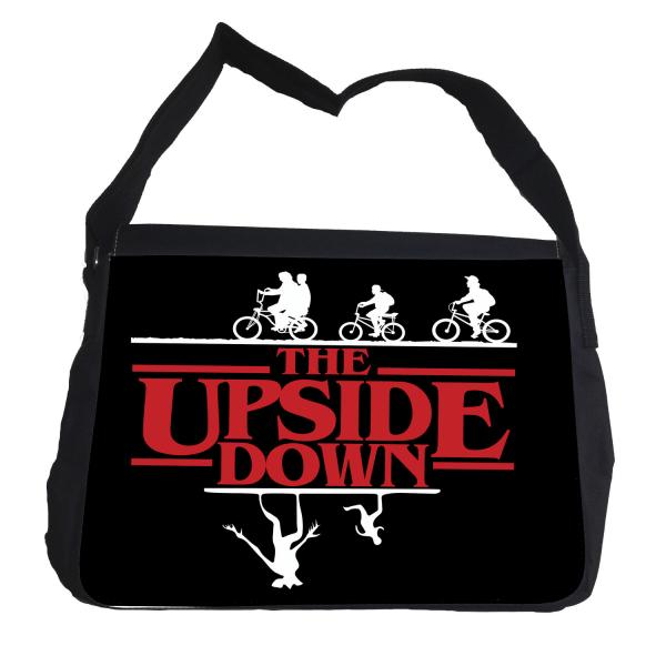 Stranger things - The upside down väska med axelrem - Skolväska Svart one size
