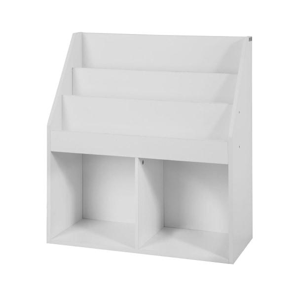 SoBuy, Bokhylla barn, Leksaksförvaring KMB01-W white W73 x D30 x H80cm