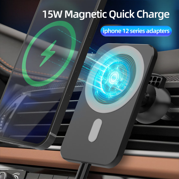 Magsafe trådlös billaddare till iPhone 12 Pro Max, 15W