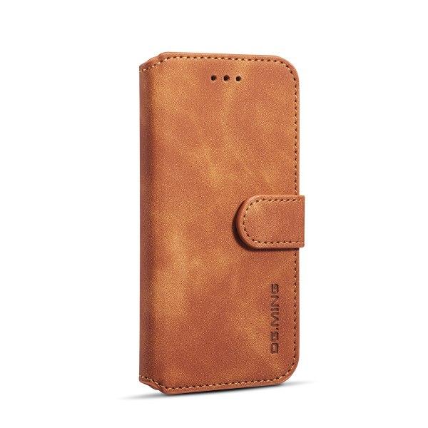 DG.MING Retro fodral med ställ, kortplats, iPhone 6/6S brun