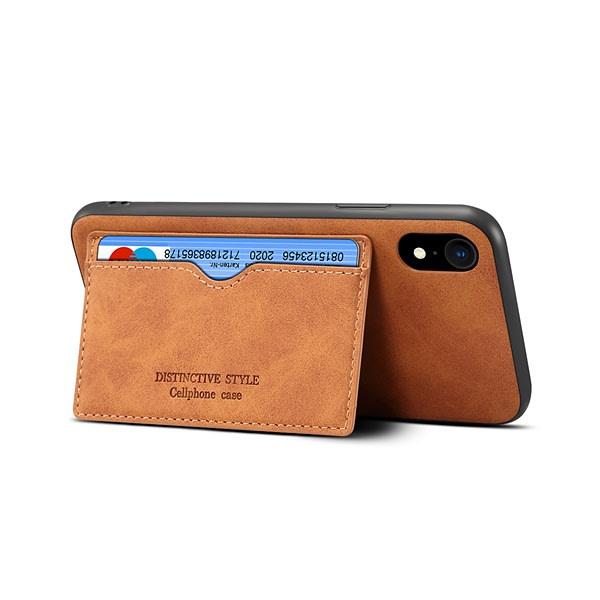 Skal med ställ och kortplats, iPhone XR 6.1 brun